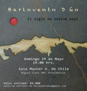 BARLOVENTO DUO @ Sala Master   Providencia   Región Metropolitana   Chile
