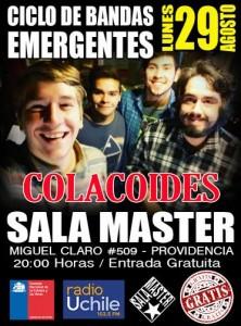 CICLO BANDAS EMERGENTES CONSEJO NACIONAL DE LAS ARTES Y LA CULTURA @ sala master | Providencia | Región Metropolitana | Chile