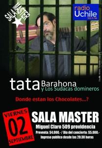 TATA BARAHONA & LOS SUDACAS DOMINEROS @ Sala Master | Providencia | Región Metropolitana | Chile