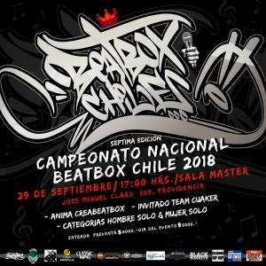 7ª CAMPEONATO NACIONAL DE BEATBOX – CHILE 2018
