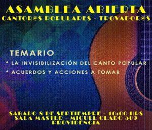ASAMBLEA ABIERTA CANTOR@S POPULARES y TROVADOR@S