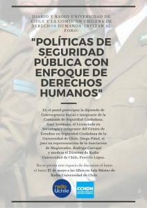 Foro: Políticas de seguridad publica con enfoque de derechos humanos